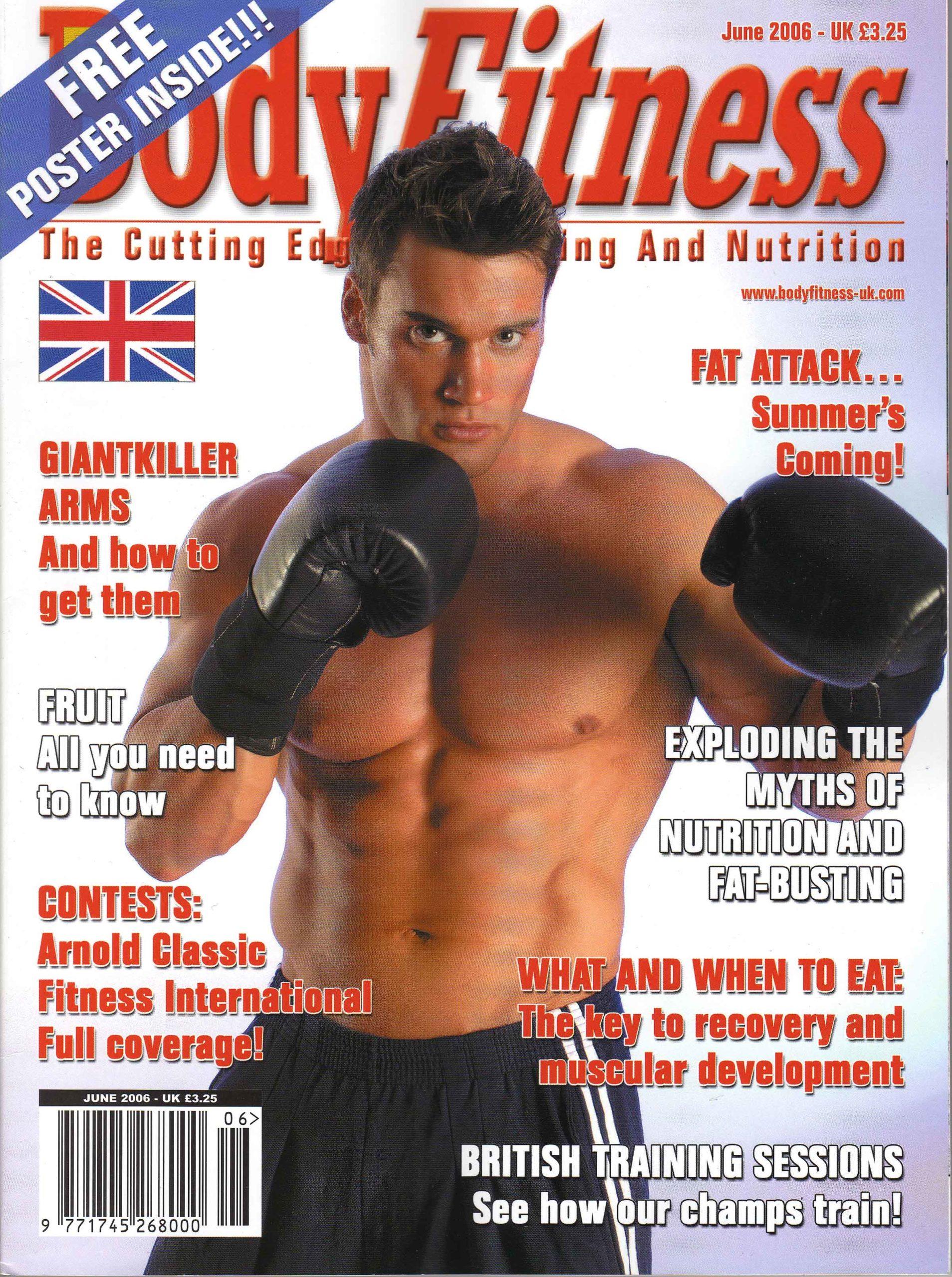 Coverbild Sportmagazin Body Fitness nackter Oberkörper Mann beim Boxen