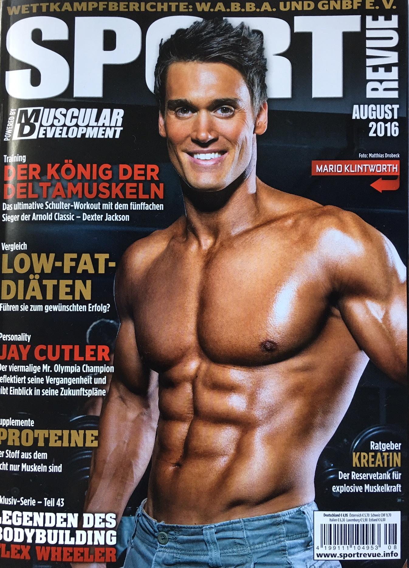 Coverbild Sportmagazin Sport Revue nackter Oberkörper Mann