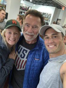 Mario Klintworth und Arnold Schwarzenegger