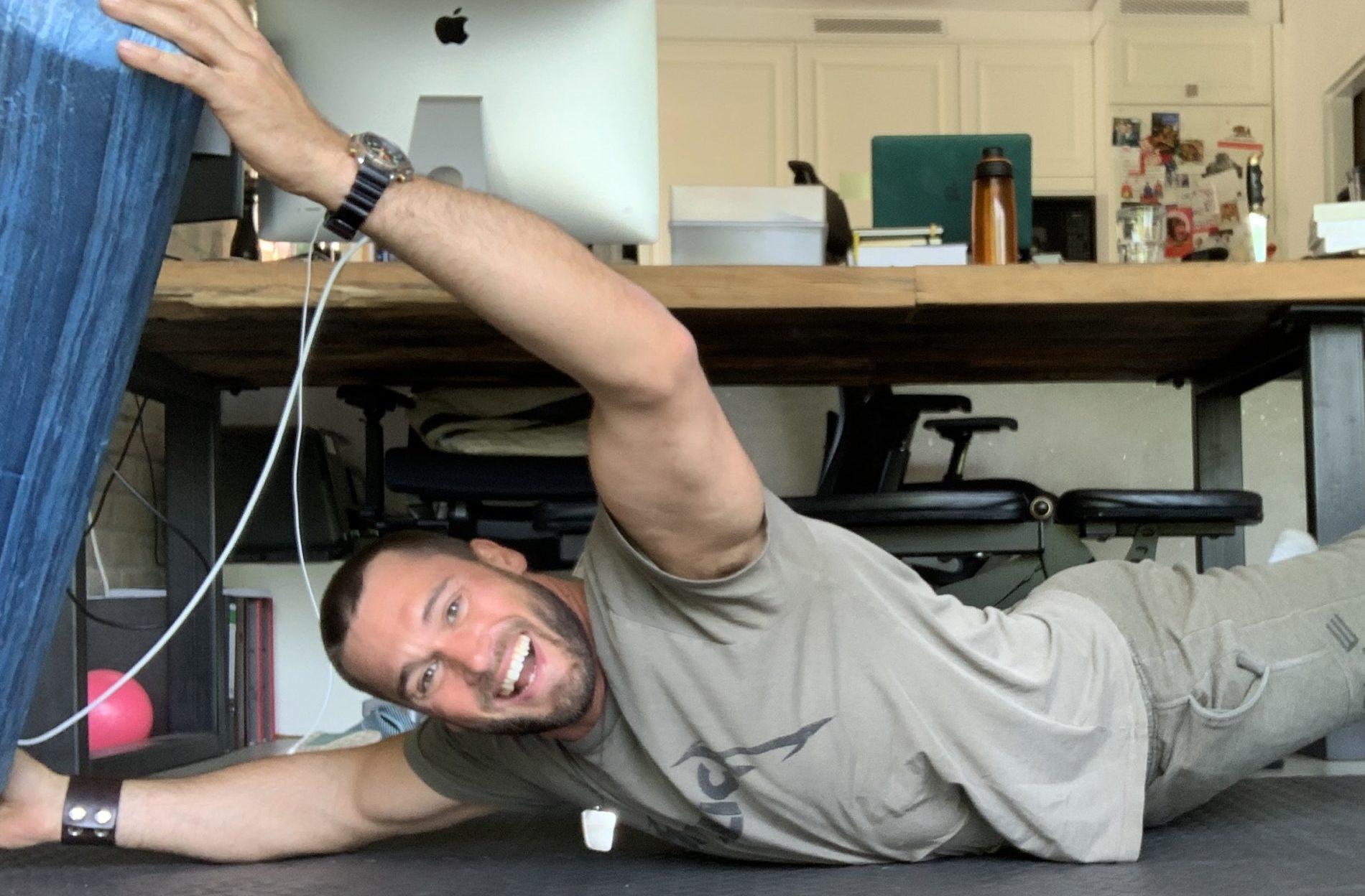 Mario Klintworth trainiert zuhause