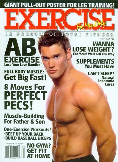 Coverbild Sportmagazin Mens Exercise nackter Oberkörper Mann