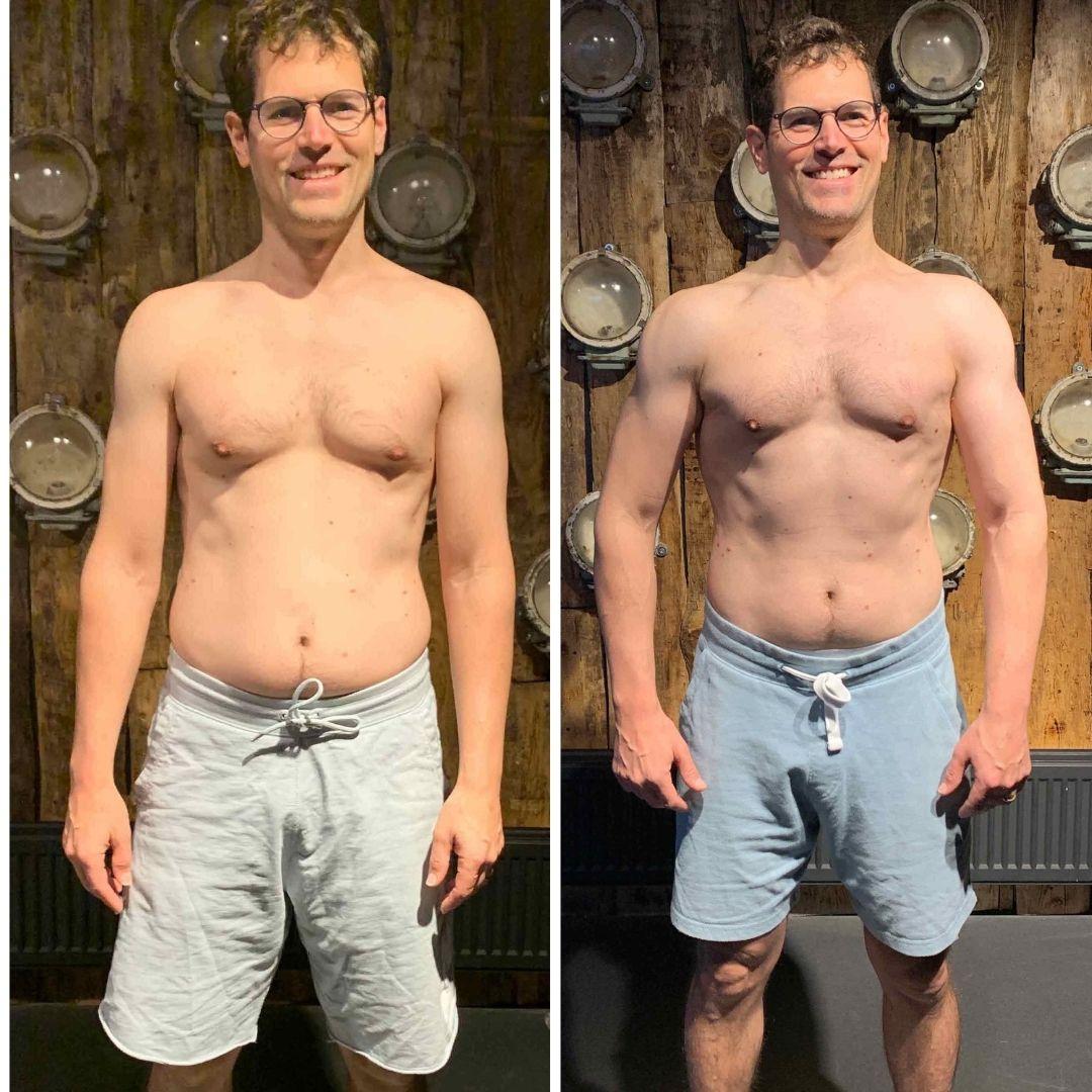 Männliche Person mit nacktem Oberkörper